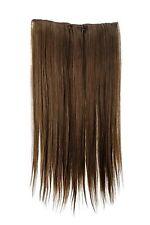 Postiche Extensions cheveux large 5 Clips dense lisse brun moyen 60 cm L30172-10