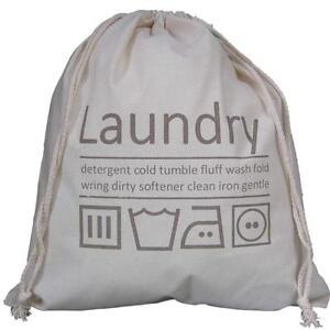 Image Is Loading Travel Laundry Bag Drawstring Underwear Washing Wash Holiday