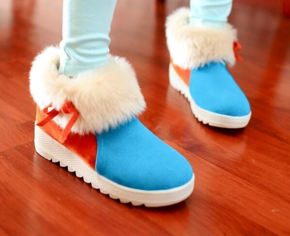 Bottes chaussures pour femmes Talon 5 bleu Cuir Synthetique Confortable 8174