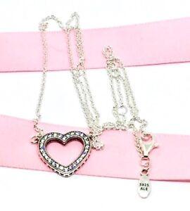 Image is loading Genuine-Pandora-Loving-Hearts-Of-PANDORA-Necklace-45cm f91750030dd