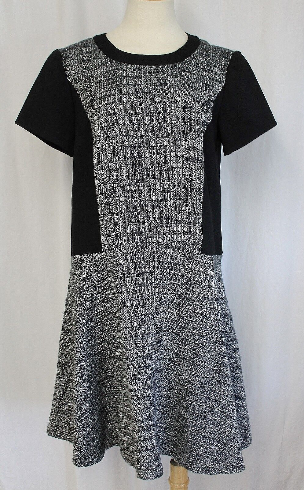 MADEWELL TEXTURED TRIBUNE DRESS CHARCOAL SIZE 6 NWT B1409
