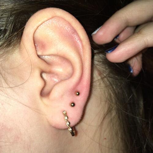 5pcs Monroe Labret  Stud Lip Ring Ear Cartilage Tragus Helix  Piercing Earring