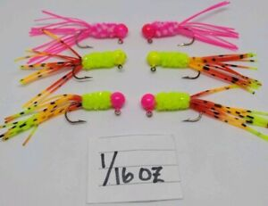 Hand tied crappie jigs