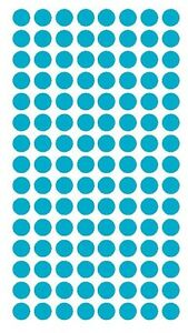 """1/4"""" LIGHT BLUE Round Color Coding Inventory Label Dots Stickers MADE IN USA"""
