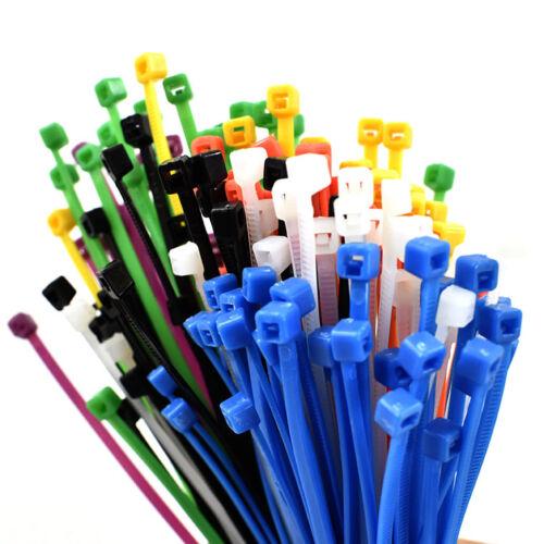 1500 PEZZI ASSORTITI Fascette Kit-Zip Tie Wraps varie dimensioni e colori