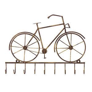 Llavero-Para-Bici-Bicicleta-Vintage-ganchos-de-almacenamiento-montado-en-la-pared-metal-colgador-de