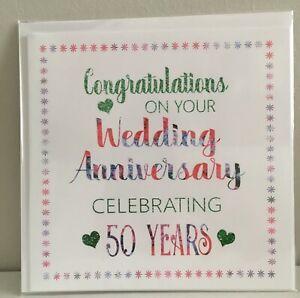 Anniversario Di Matrimonio 6 Anni.Carta Anniversario Di Matrimonio 50 Anni Biglietto D Auguri