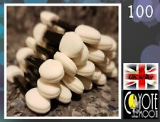 100Pcs Soft Double Eye Shadow Applicators Sponge Makeup Brush Tool Disposable UK