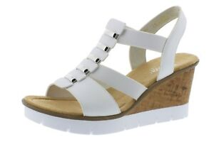 Rieker 80 zeppa donna sandali sandali con con V5545 zeppa w4SAFwxUq