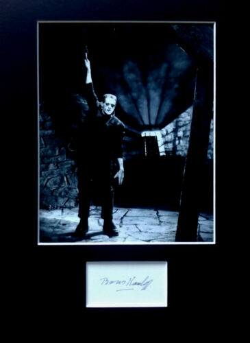 BORIS KARLOFF signed autograph PHOTO DISPLAY FRANKENSTEIN Horror movie