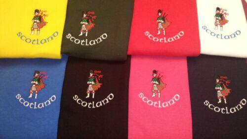 appuyé design brodé sur un polo Écosse Écossais Scots Piper