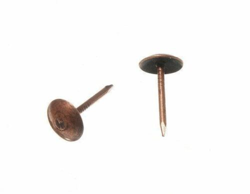 1000 OF UPHOLSTERY NAIL FURNITURE STUD TACK 9MM X 16MM FB ANTIQUE 13F9