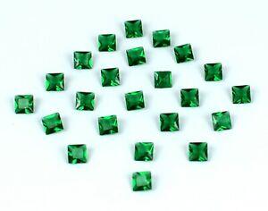 Colombian 5.85 Carat Emerald Gemstone 25 Pcs Lot Princess Cut Natural Certified