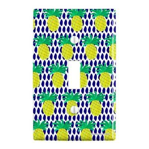 Pineapple Plastic Wall Decor Toggle Light Switch Plate Cover Graphics and More