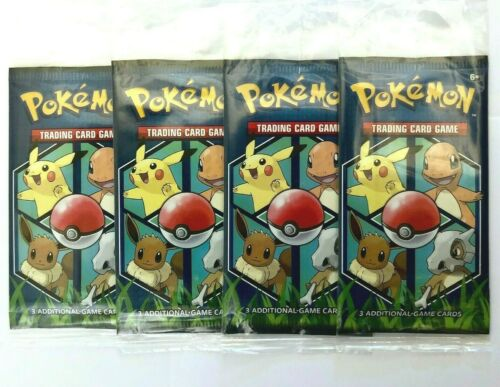 4x Pokemon Trading Card Game 3 Card Booster Pack 2019 General Mills Promo Sealed