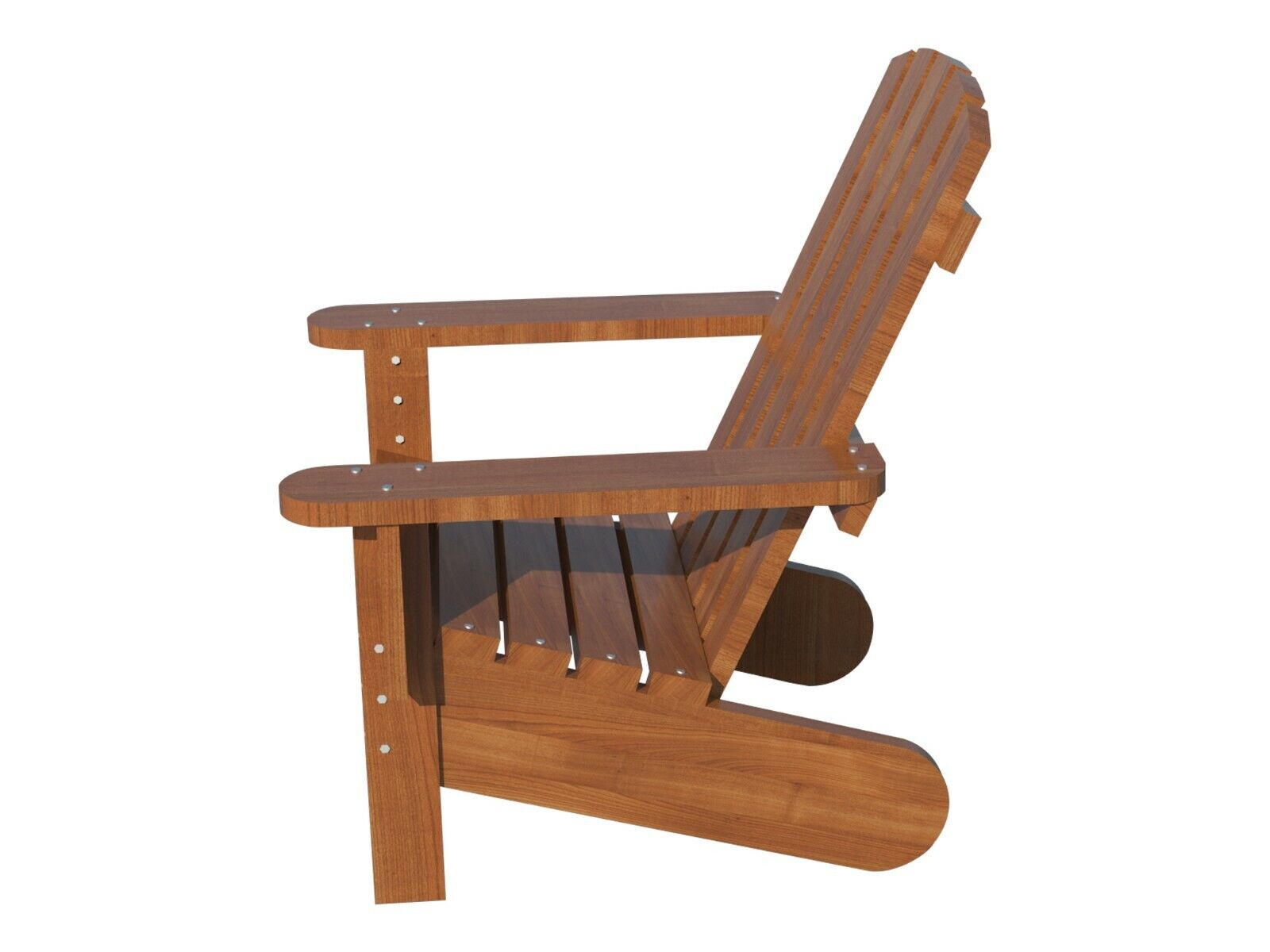 Adirondack Chair Plans DIY Patio Lawn Deck Garden Furniture Stool Outdoor  Wood