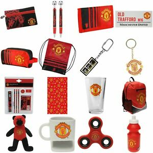Manchester-United-Official-Football-Goods-NEW-Gift-Wrap-Pens-Pencils-Wallet-MUFC