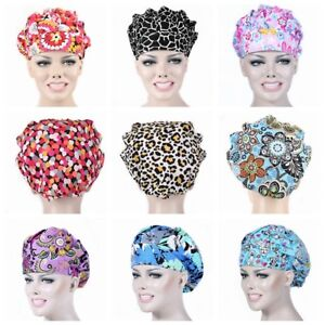 Printing-Scrub-Hat-Cap-Men-Women-Nurse-Doctor-Medical-Surgical-Surgery-Cotton