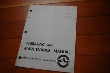 Miller Welder Mhfc Mw 100 Wire Feeder Control Operation Maintenance Manual Book