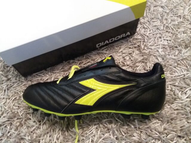 Scarpe Calcio Diadora Brasil nere 46 in pelle di canguro