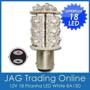 18 LED WHITE FLUX BA15D BOAT/ANCHOR/STERN MARINE LIGHT