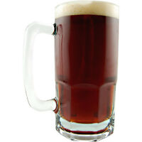 German Extra Large Glass Beer Mug – 34 Oz - Stein - Heavy Germany Glassware Brew