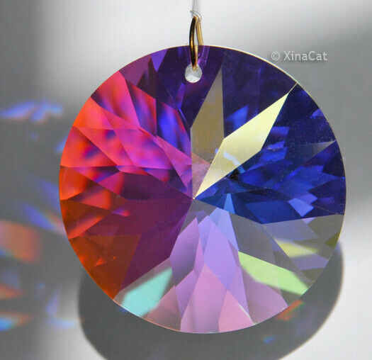 Round Faceted 40mm AB Austrian Crystal Prism SunCatcher 1-1/2 inches