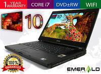 """Dell Precision M4500 Win 10 Laptop Quad i7 820QM 1.73GHZ 4GB 500GB 15.6"""" FHD"""
