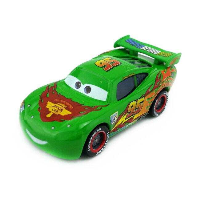 mattel disney pixar cars green lightning mcqueen diecast toy car 1