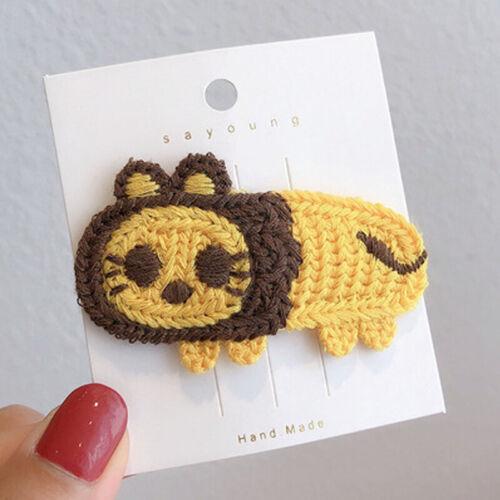 Fashion Animal Fruit Knit Hairpin Headdress Hair Clips Girl Kid Hair Accessories