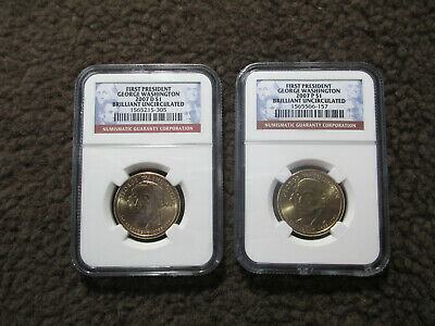 BIZ STRIKE NICE COINS! 2007 P GEORGE WASHINGTON PRESIDENT $1 MS 65 NGC