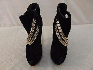 women's mascotte amanda black gold chains zip up 8 high 6