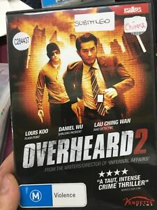 Overheard-2-ex-rental-region-4-DVD-2011-Hong-Kong-crime-thriller-movie-cheap