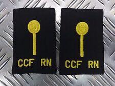 Genuine Pair of British Royal Navy CCF Cadets RN Black Rank Slides / Epaulettes