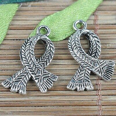 5pcs Tibetan silver large key charms FC9197
