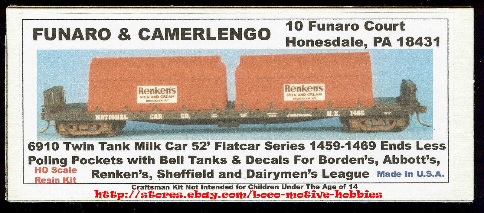 Con 100% de calidad y servicio de% 100. Funaro F&C 6910 Borden's Borden's Borden's Abbott's Renken's Sheffield tanques de leche 52' Cochero Kit  ofrecemos varias marcas famosas