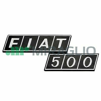 SIGLA IN PLASTICA PER COFANO MOTORE 500 F