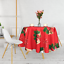 miniature 8 - Rectangle Rond Noël Rouge Nappe polyester Table Nappe Festive Motif