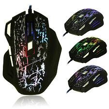 UK 5500DPI 8D BEITAS X3 Molten Optical 7 Buttons Usb Gaming Mouse WOW RAZER LOL
