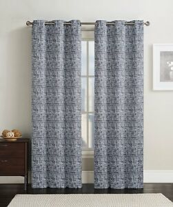 Pair Lenox Grommet Blackout Window Top Curtain Panels Eash Set 84