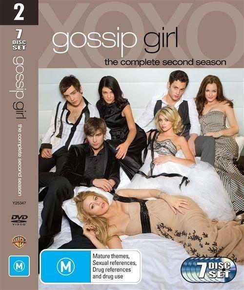 Gossip Girl : Complete Season 2 (DVD, 2009, 8 x Disc Set, region 4) g6