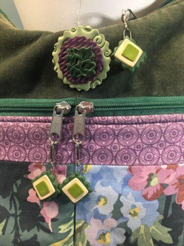 Bagzz Large Mixed Flower Plant Old Media Shoulder Bag Many Pockets 8Nn0mw