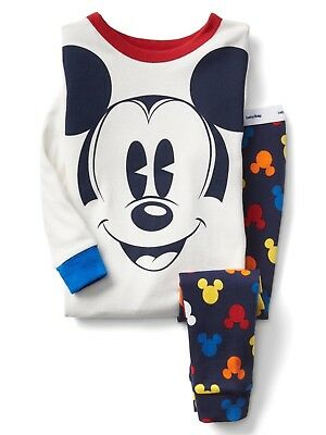 GAP Baby Costume 4T Mickey Mouse Pajamas PJ Set Toddler Boys Size 4 Years