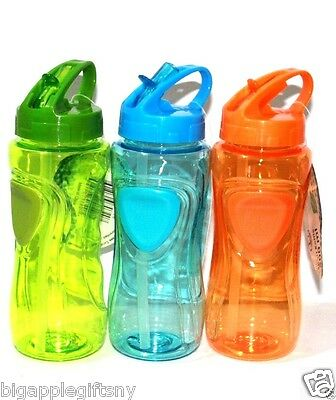 NEW 3 PCS BPA FREE TRITAN Sports Bottle Water Bottle with Bite Valve 500ml 16Oz
