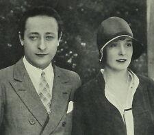 Violinist Jascha Heifetz and Florence Vidor 1929 Page Photo Study Article 6036