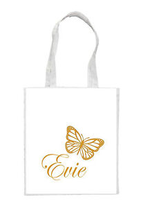 Personalised Wedding Gift Canvas : Personalised-Butterfly-Canvas-Tote-Bag-Gift-for-Wedding-Favours-Name ...