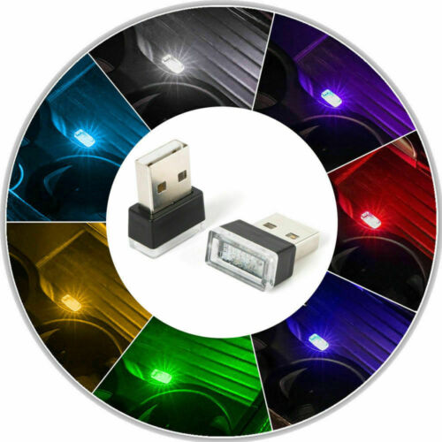 Colorful Flexible Mini USB LED Light Lamp For Atmosphere Lamp Car Accessory New