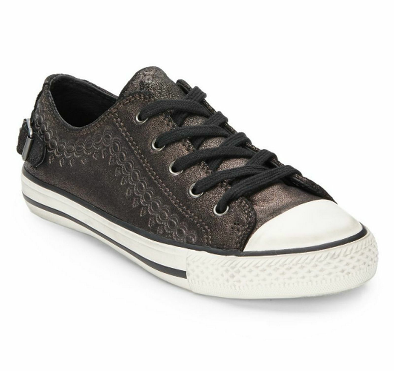 New with Box Ash Leather Sneakers shoes~ Midnight Brown, EUR38