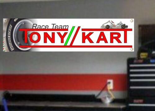 Tony KartRacingGo KartBanner Sign Garage WorkshopPVC SignRB001