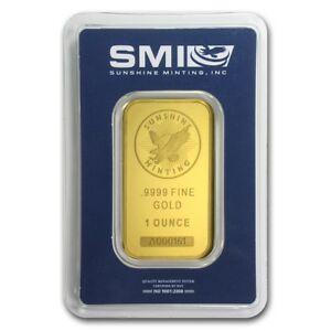 1 oz Gold Bar - Sunshine New Design (In TEP Packaging) - SKU #72471